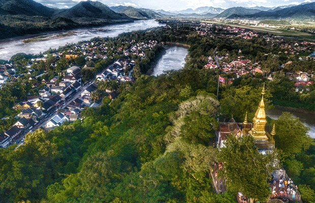Mount Phousi Hill & Temple in Laos